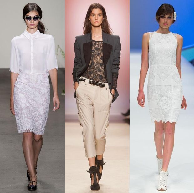 Lace trend spring 2014