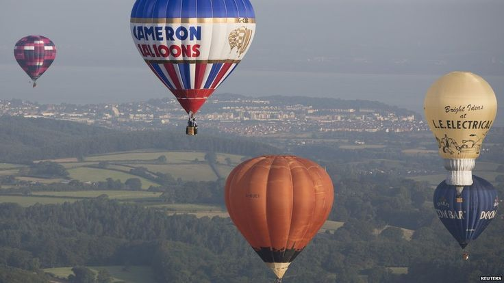Balloons in the air at Bristol Balloon Festival