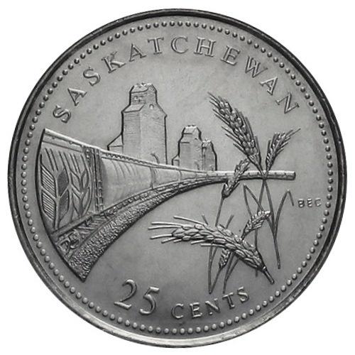 Canadian Coin Collection Saskatchewan 1992 125th