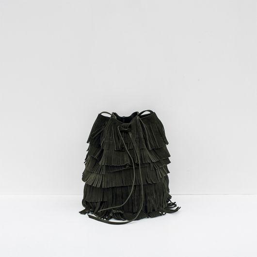 FRINGE BAG GREEN