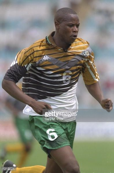 Phil Masinga of South Africa in action during the African Nations Cup match against Egypt at the FNB Stadium in Johannesburg South Africa Mandatory...