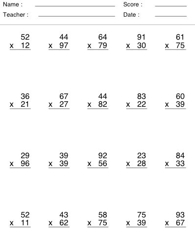 image result for multiplication by 2 digits math. Black Bedroom Furniture Sets. Home Design Ideas