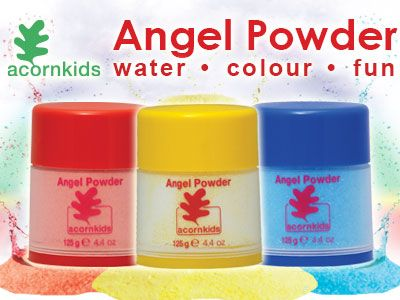 Angel Powder: Amazing powder that softens the water & changes the water colour. Perfect for teaching your children colours.  Read my mommy blog at http://www.acornkids.com/blog.aspx  Click here http://goo.gl/jY6G0g to buy the Angel Powder Set.