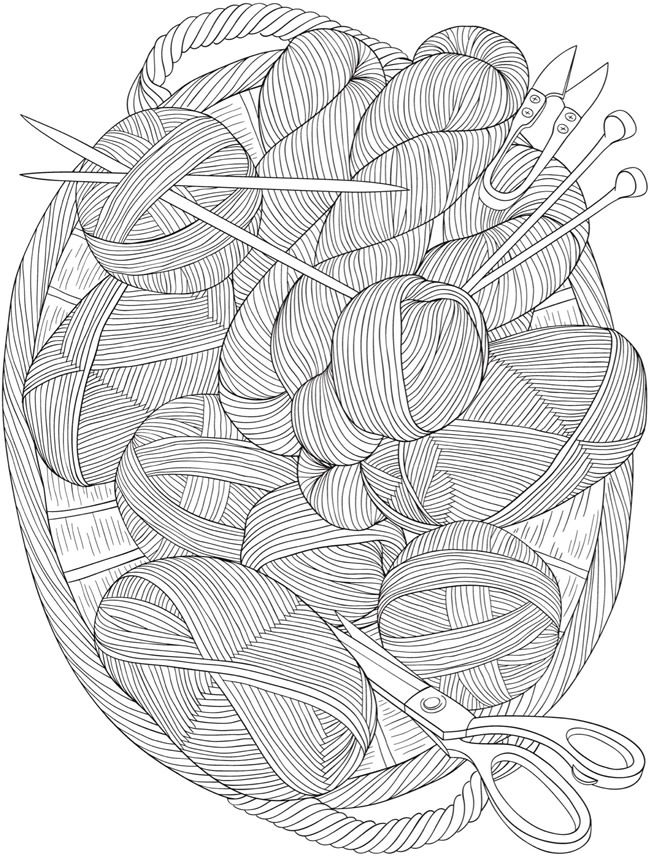 creative haven knitting notions coloring book - Coloring Book Yarns