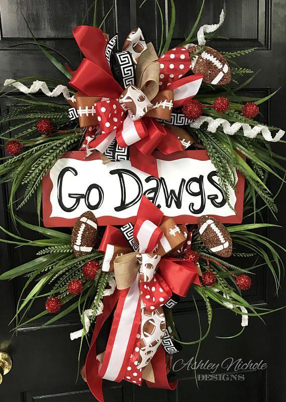 Team+Football+Wreath+Door+Hanger+Door+Decoration++Fall