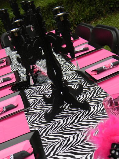 """Photo 1 of 12: Hot Pink and Zebra Print / Birthday """"Pink Divalishious Party"""" 