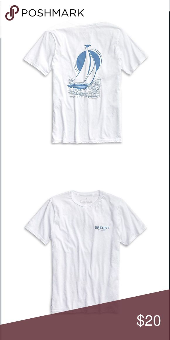 SPERRY MEN'S STARBOARD SAIL T-SHIRT Brand new sperry T-shirt medium. I bought this at the sperry store and it was all sales final and I bought the wrong size so I can't return it. Sperry Shirts Tees - Short Sleeve