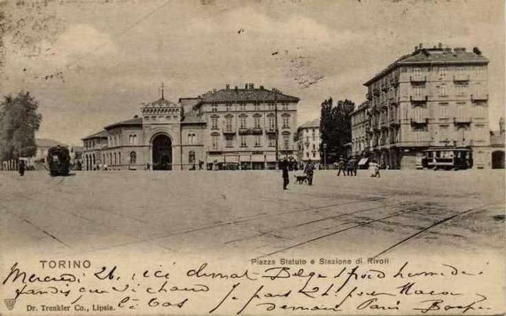 Torino - Piazza Statuto e stazione del treno per Rivoli