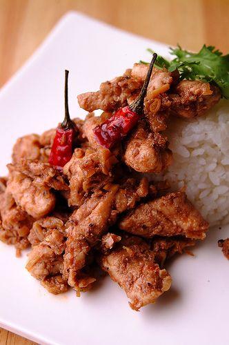Filipino-style chilli chicken