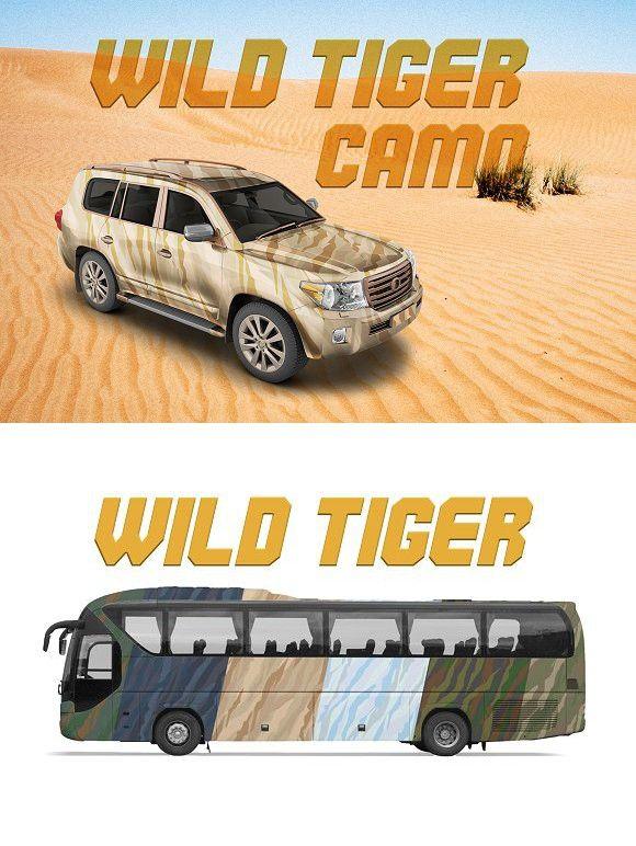 Wild Tiger Camo | Vector. Patterns. $5.00