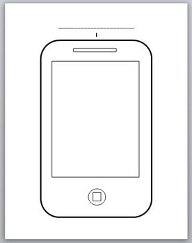 Here Is A Free Template Of An Iphone Or Smartphone Perfect For
