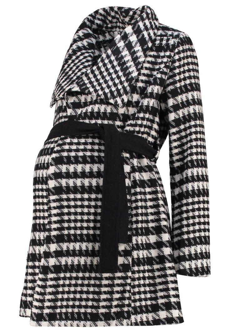 Anna Field MAMA Krótki płaszcz black/white