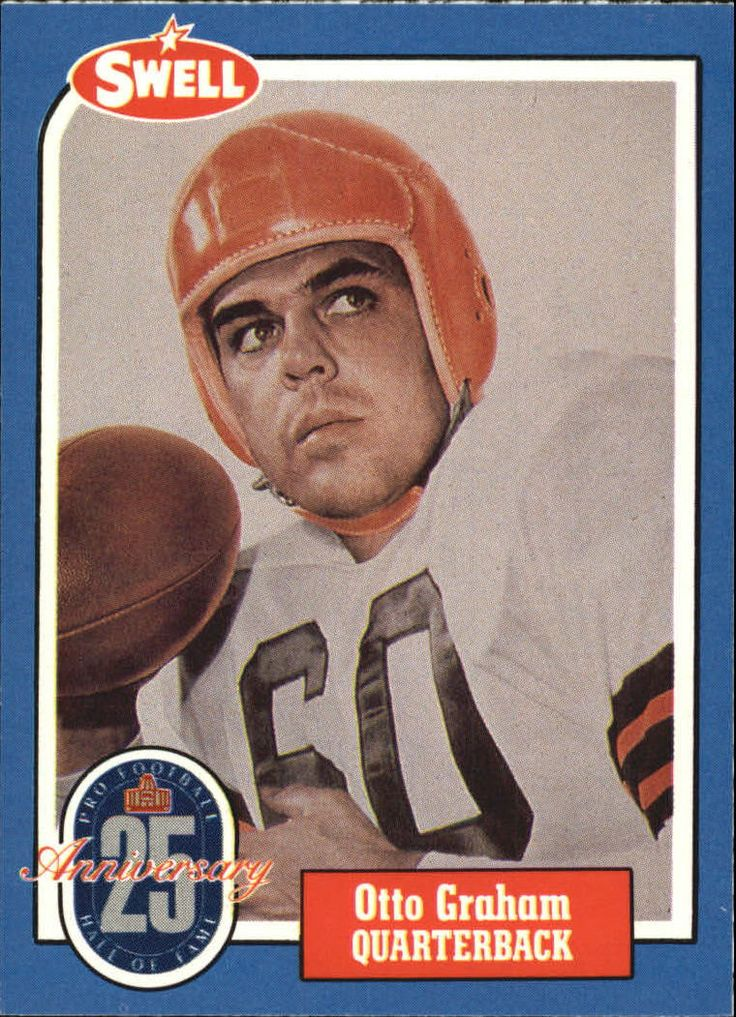 1988 Swell Greats #41 Otto Graham 65 - Set - 1988 Swell Greats - Sport - Football - Team - Cleveland Browns - Manufacturer - Swell - Brand - Swell Condition: Near Mint to Mint (8)