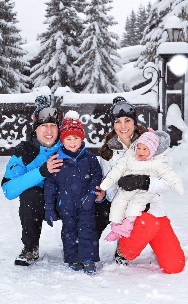 Prince George and Princess Charlotte Play in the Snow With Kate Middleton and Prince William in New Royal Photos | E! Online Mobile