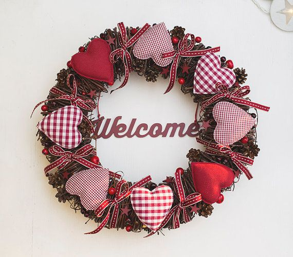 Wianek z sercami w Botanika na DaWanda.com #niezchinzpasji