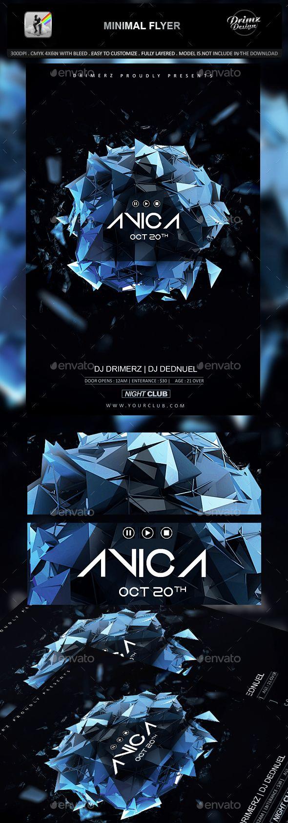 Minimal Flyer  #exploding #flyer #glowing #minimal #minimal flyer #music #night …