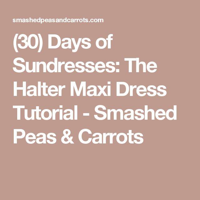 Halter top maxi dress tutorial