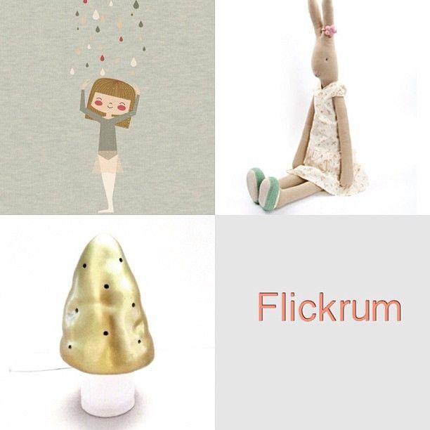 Flickrum!  #barnrum #flickrum #mailegkanin #mokkasin #flugsvampslampa #guld #childrensroom
