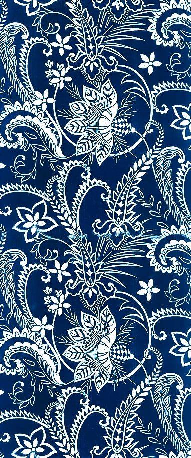 Intricate floral vine print