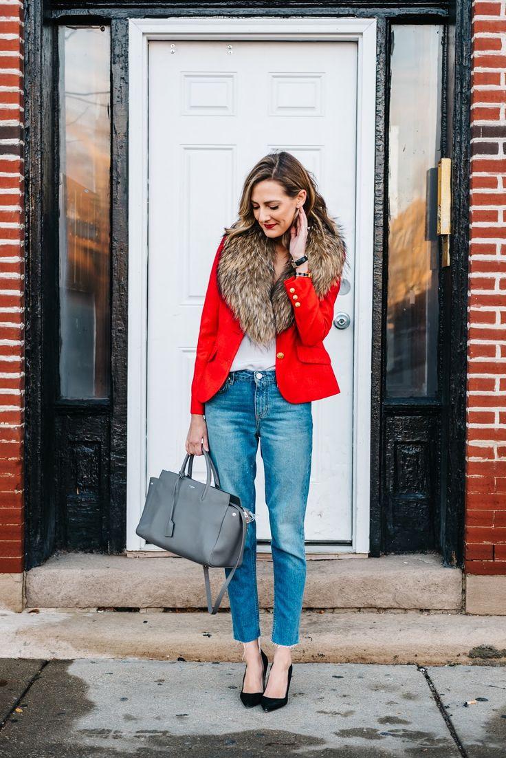 Resultado de imagen para fashion OUTFIT red blazer