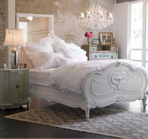 This is almost my fantasy bed. When I think of a happy place that's not the beach/ocean, I think of a big fluffy bed with all white bedding and big fluffy white comforter.
