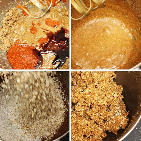 Pumpkin Spiced Oatmeal Pecan Cookies--- Skinnytaste