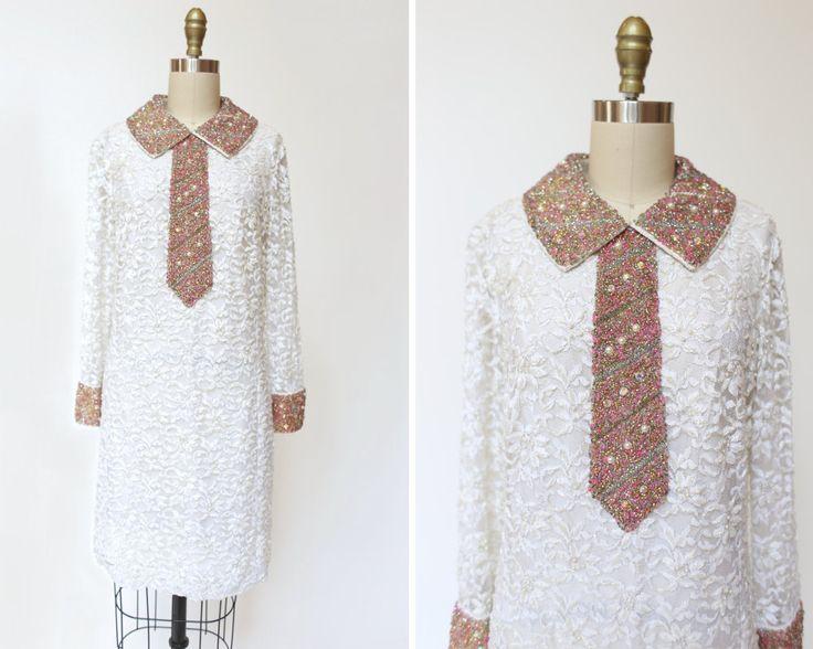 Smoking perles des années 1960 robe robe de par SadieLouVintage