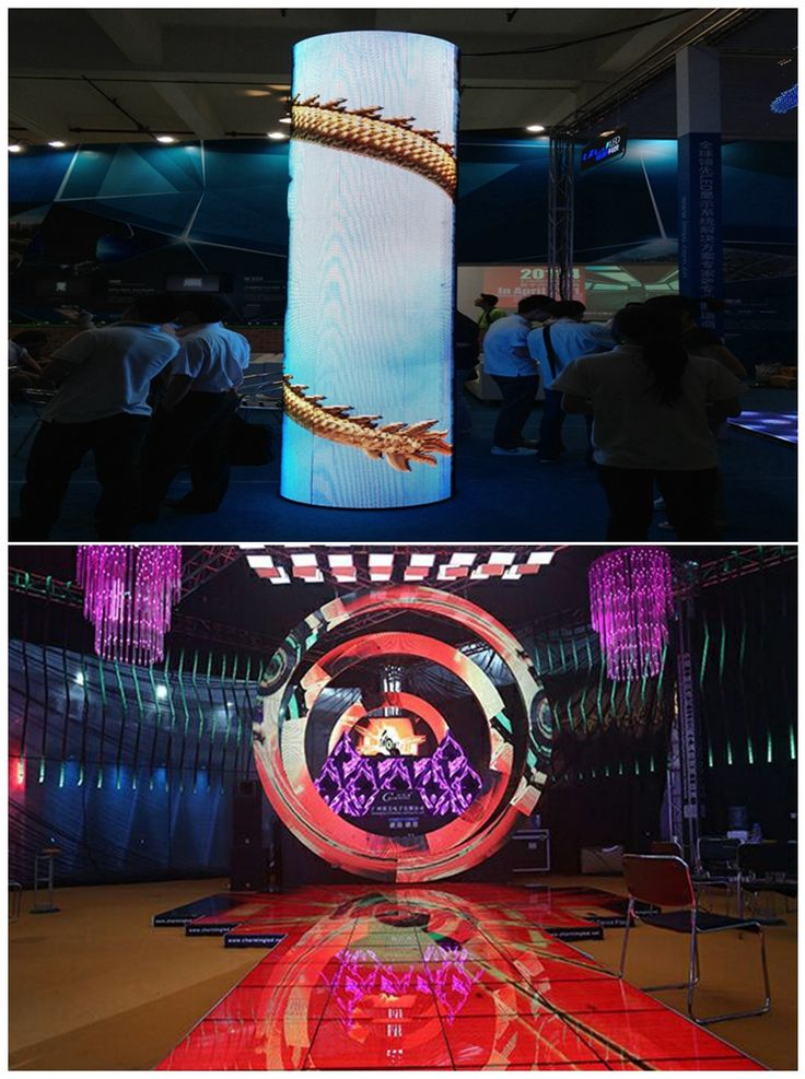 Unique curved LED screen flexible LED screen curved LED display flexible LED display