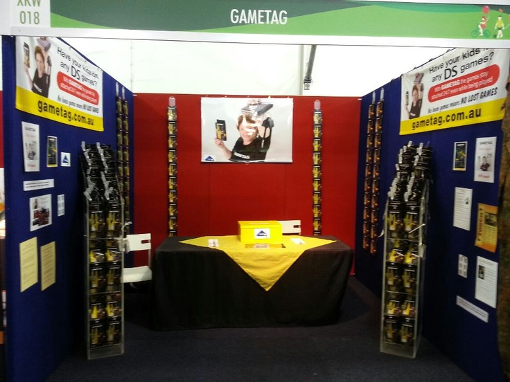 Gametag at the Sydney Royal Easter Show. The show runs from 21/3/13 to 3/4/13. Held at the Sydney Showground Homebush. Visit us at our stand No. 18 in the Kids World Olympic Boulevard.    Gametag replaces all your DS/PS game cases and organisers! The games stay attached to your console 24/7 even while the games are being played check out our youtube to see how! http://www.youtube.com/watch?v=Wcy5hUlZuc4 Gametag DS game case and holder.