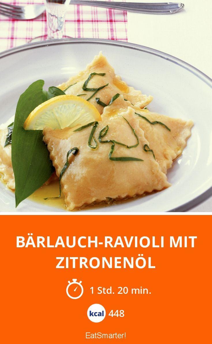 Frische Bärlauch-Ravioli mit Zitronenöl - einfach nur super lecker!