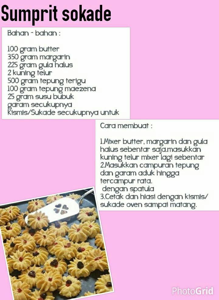 Sumprit Sukade Resep Kue Kering Resep Masakan