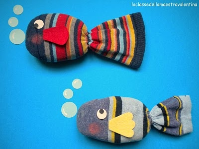 fish... from socks... how cute are these!!!