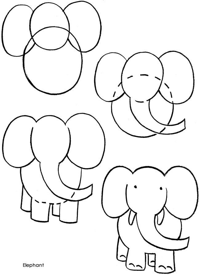 Draw An Elephant My Son Is Always Asking Me To Him And I Can