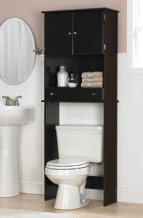 The wall above the bathroom seat is usually left space. In fact, we can utilize …   – Over The Toilet Storage Ideas