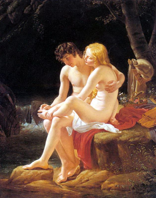Louis Hersent, Daphnis and Chloe, 19th century