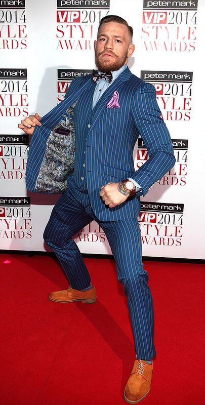 Conor McGregor Style Awards 2014… possibly most stylish man that punches another man in the face for a living.