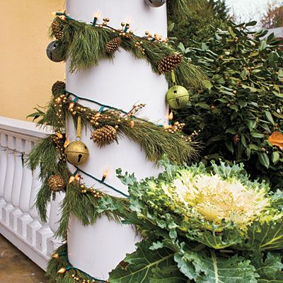 Christmas Decorating Ideas: LightsSouthern Living, Southern Style, Christmas Decor Ideas, Christmas Greenery, String Lights, Fresh Christmas, Outdoor Christmas Decor, Christmas Decorating Ideas, Front Porches