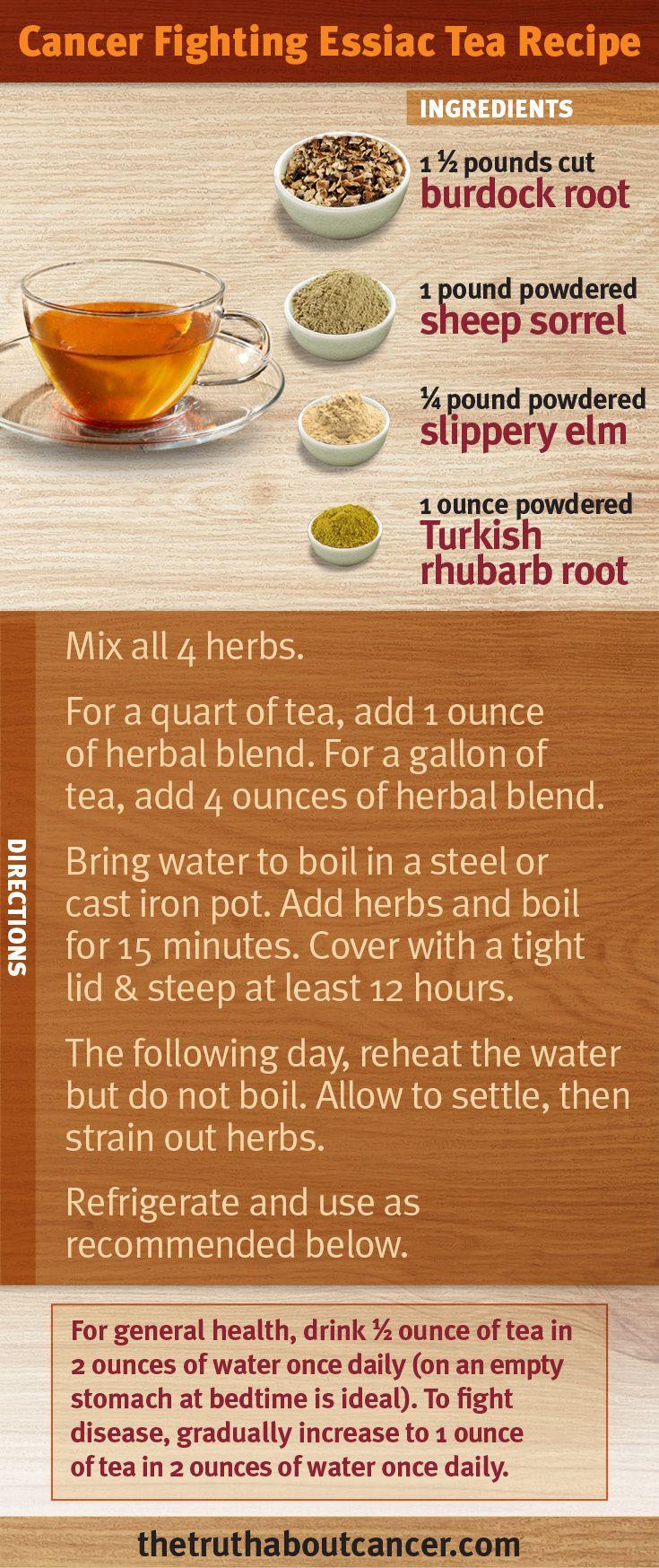 The cancer fighting essiac tea recipe