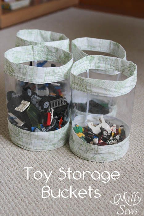 doorschijnende manden Fabric Storage Bucket Tutorial - Stash your toys -  Melly Sews