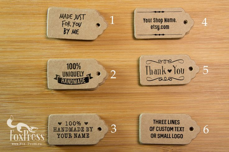 Tags & Stamp kit Blank Kraftpaper Tags Custom by TheFoxPress