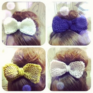 Knitted hairbow
