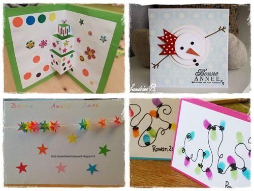 10 façons (et +) de créer une carte de voeux avec les enfants |La cour des petits