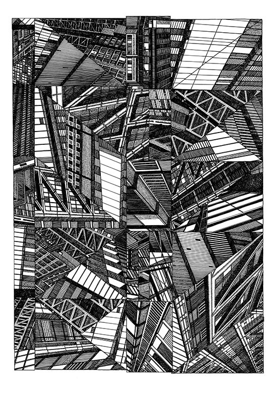 A Drawing Of The Heron Tower Inspired By The Structure Of