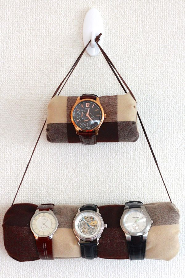 Is it decorative or practical? I think it's both! #DIY hanging watch holder from www.alyssaandcarla.com