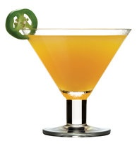 Mango Jalapeno Martini. YUM!! Just like Bonefish Grill's Tropical Heat.  Rim the glass with lime-sugar.