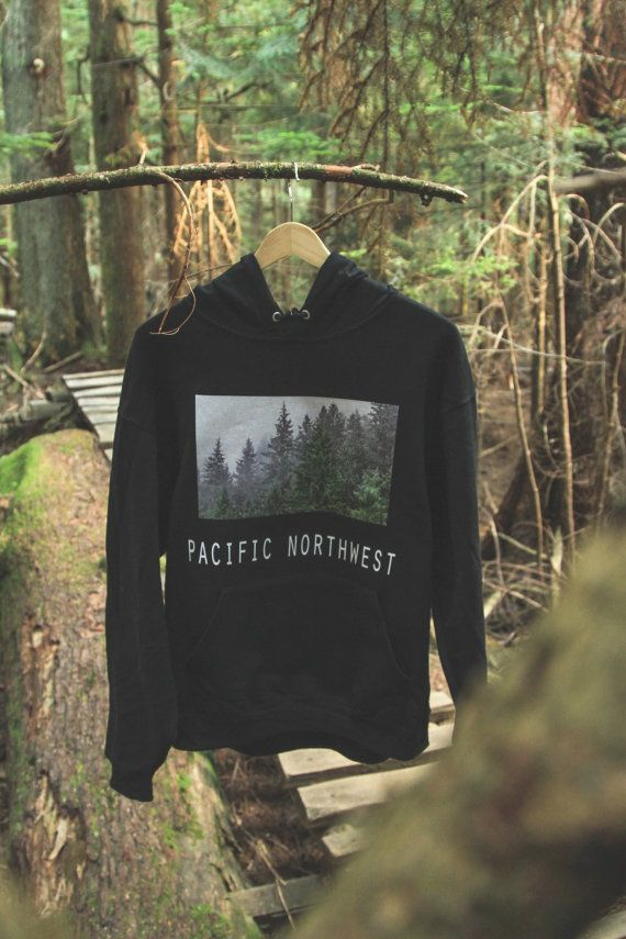 Pacific Northwest Hoodie Black by FromTheWest on Etsy