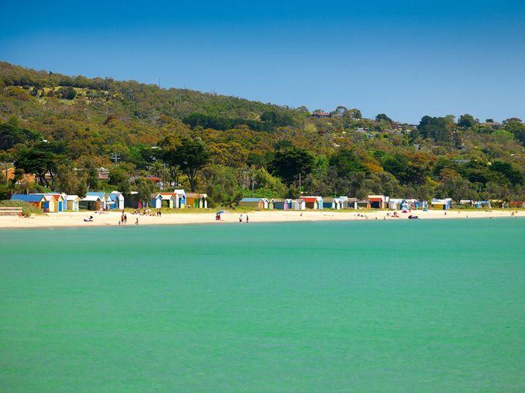 Dromana Bathing Boxes. Mornington Peninsula, Victoria, Australia.