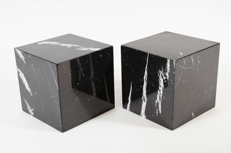 Pair of Negro Marquina Spanish Marble Cube Side Tables by Pace   From a unique collection of antique and modern side tables at http://www.1stdibs.com/furniture/tables/side-tables/