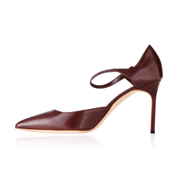 Manolo Blahnik Norvany Mary Jane Brown -  These sexy sky-high pumps inspired by the timeless Mary Jane. Beautifully made they are comfortable enough for all day wear.