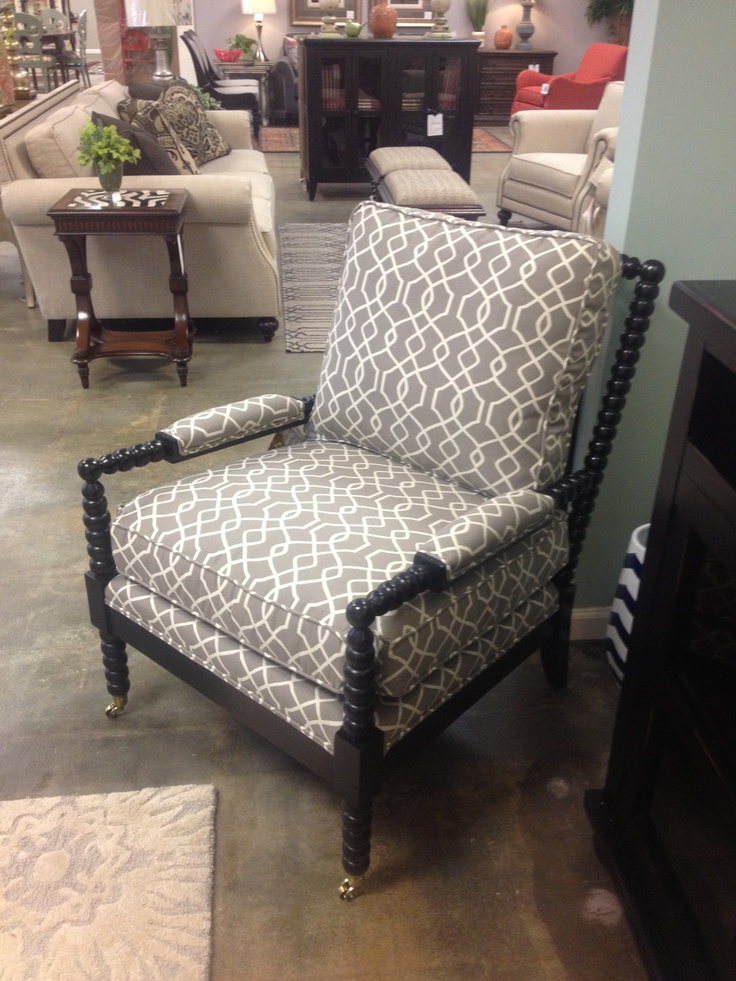 CR Laine s Kent Leather Chair and Spool Chair and Ottoman were